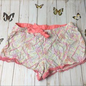 Victoria's Secret Small Pink White Sleep Shorts